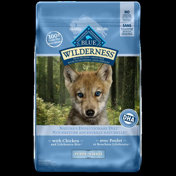 Blue Buffalo Wilderness Chicken Grain-Free Puppy Dry Dog Food, 11-lb