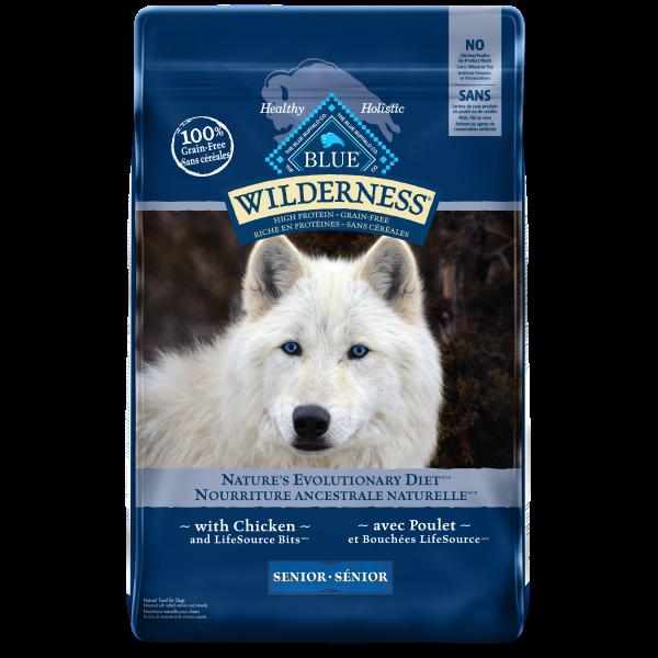 Blue Buffalo Wilderness Chicken Grain-Free Senior Dry Dog Food, 11-lb