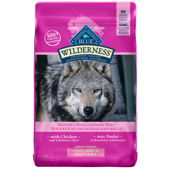 Blue Buffalo Wilderness Chicken Grain-Free Adult Small Breed Dry Dog Food, 4.5-lb