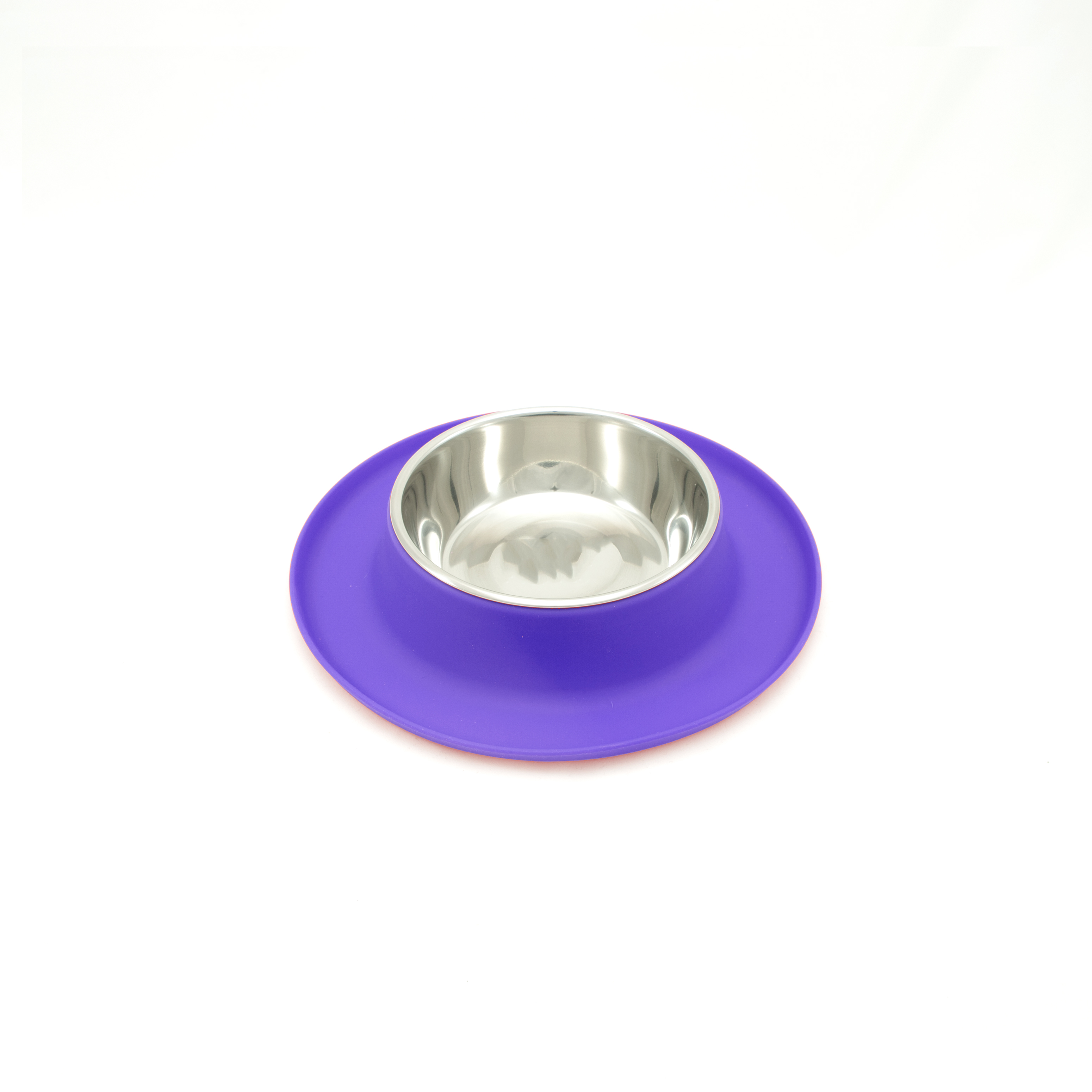 Messy Mutts Silicone Feeder for Cats, Purple