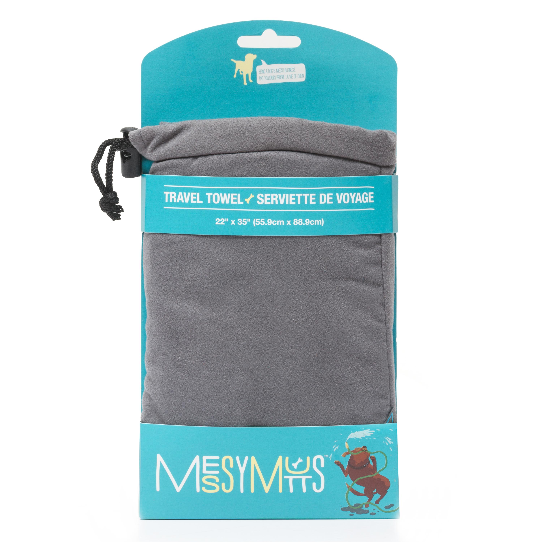 Messy Mutts Microfiber Travel Towel, Grey