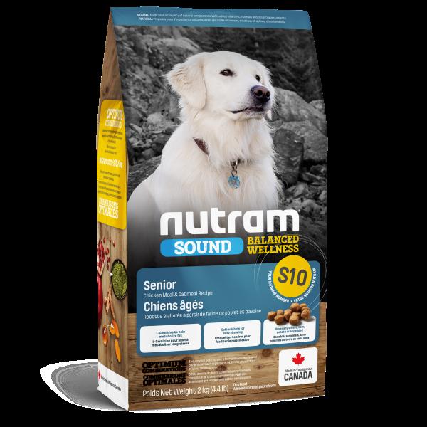 Nutram Sound S10 Balanced Wellness Chicken & Oatmeal Senior Dry Dog Food, 2-kg