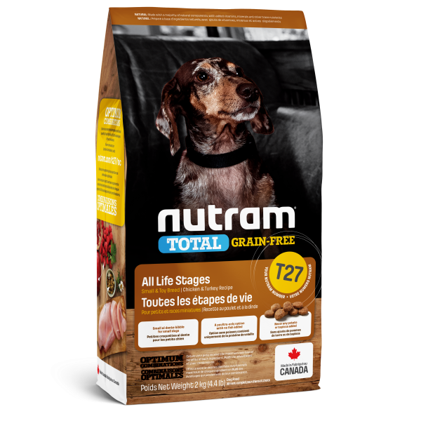 Nutram Total T27 Chicken & Turkey Grain-Free All Life Stages Dry Dog Food, 2-kg