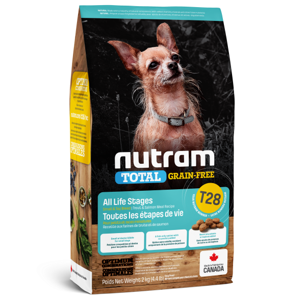 Nutram Total T28 Trout & Salmon Grain-Free All Life Stages Dry Dog Food, 2-kg