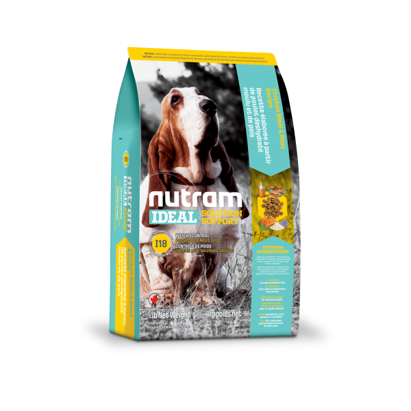 Nutram Ideal I18 Solution Weight Control Chicken & Peas Dry Dog Food, 13.6-kg