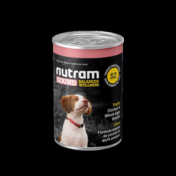 Nutram Sound S2 Well Balanced Chicken & Whole Eggs Puppy Wet Dog Food, 369-gram
