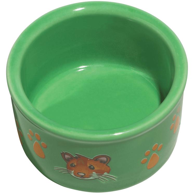 Kaytee Hamster & Paw-Print PetWare Small Animal Bowl, Colors Varies