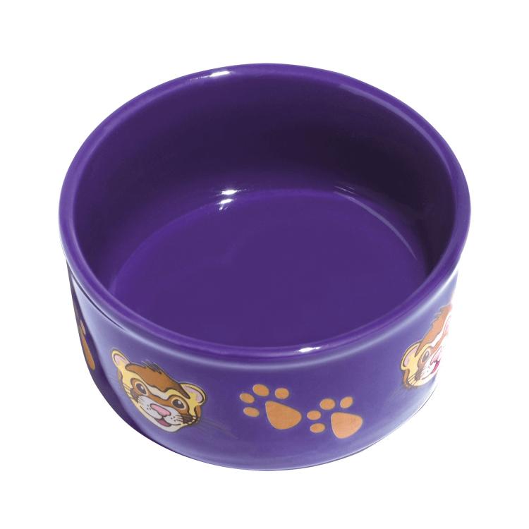Kaytee Ferret & Paw-Print PetWare Small Animal Bowl, Colors Varies Image