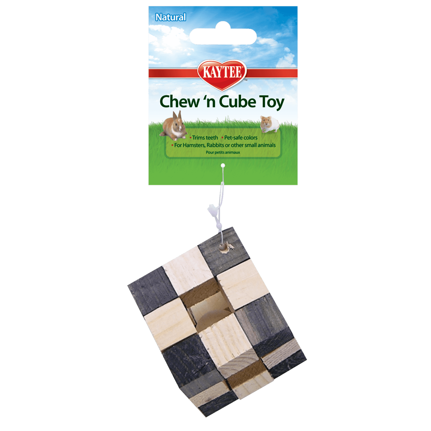 Kaytee Chew-N-Cube Natural Small Animal Toy