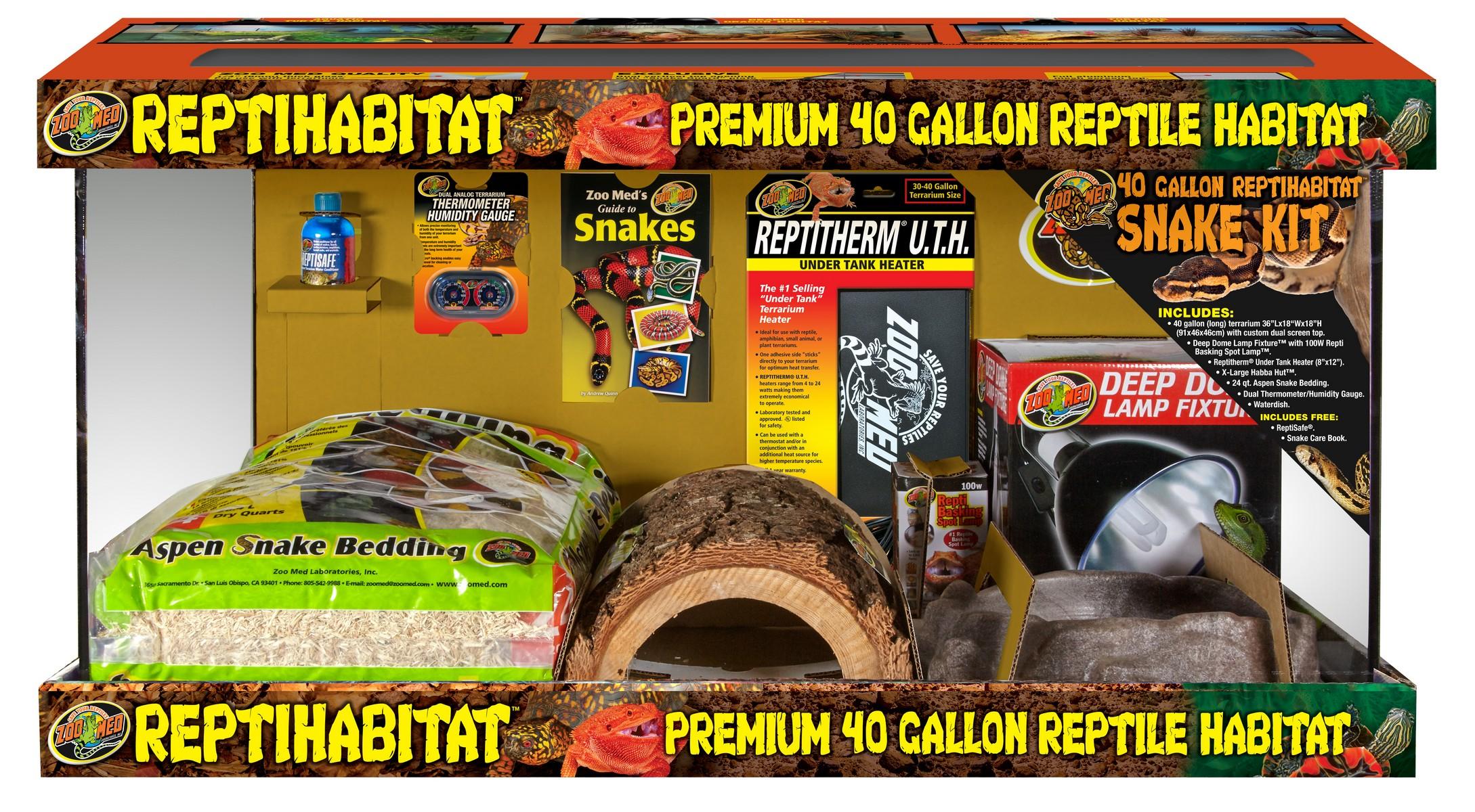 Zoo Med Reptihabitat Snake Kit Premium Reptile Habitat, 40-gallon