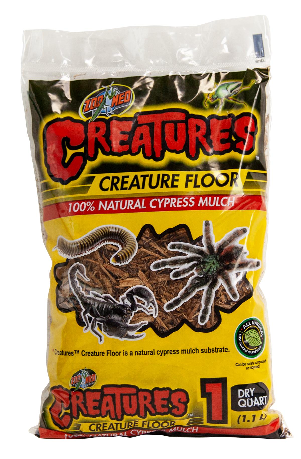 Zoo Med Creatures Floor Natural Cypress Mulch, 1-qt