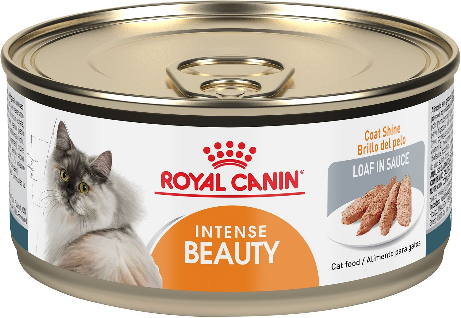 Royal Canin Intense Beauty Loaf in Sauce Canned Cat Food, 3-oz