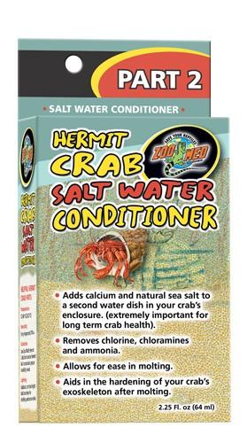 Zoo Med Hermit Crab Salt Water Conditioner, 2.25-oz