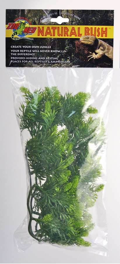 Zoo Med Natural Bush Plants Malaysian Fern for Terrariums, 14-in