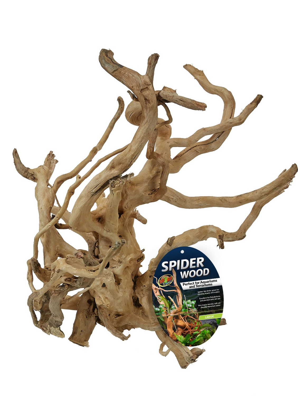 Zoo Med Spider Wood for Aquariums & Terrariums, Large