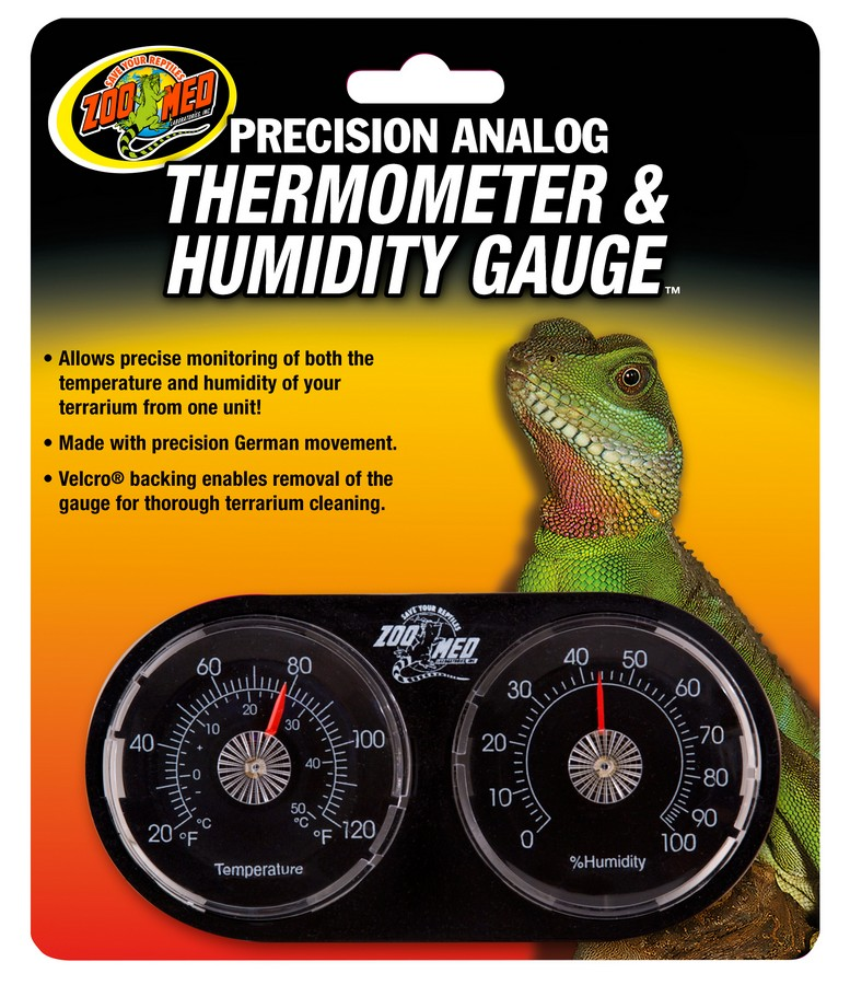 Zoo Med Precision Analog Thermometer & Humidity Gauge for Terrariums