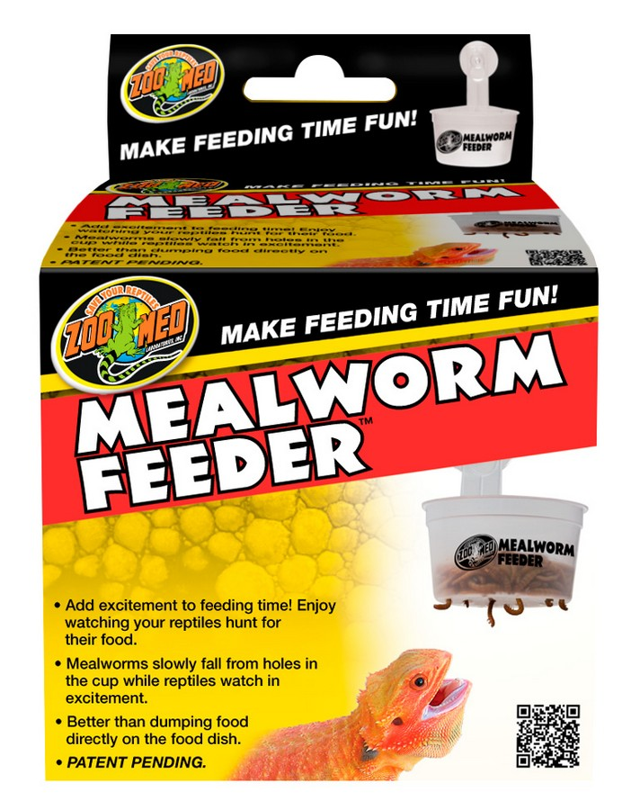Zoo Med Hanging Mealworm Feeder for Reptiles