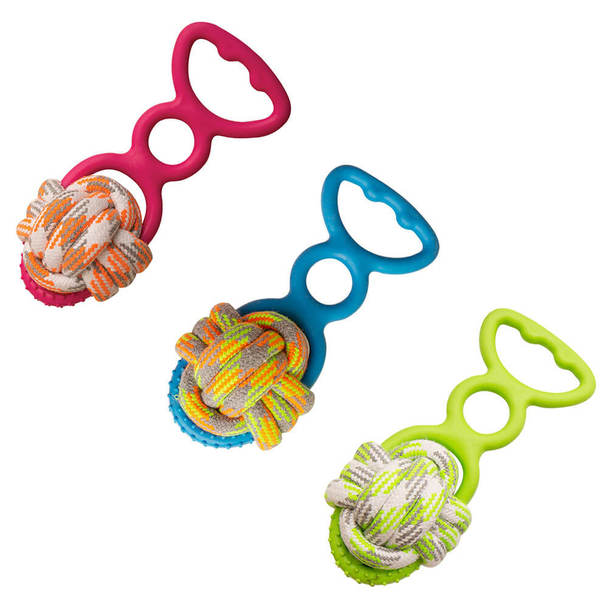 Snugarooz Grab 'N Wag Rope Dog Chew Toy, Assorted