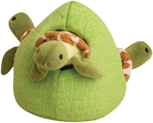 * Snugarooz Hide & Seek Reef Squeaky Plush Dog Chew Toy