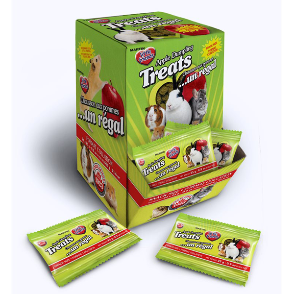 Martin Little Friends Apple Dumpling Small Pet Treats, 25-gm, pack of 24