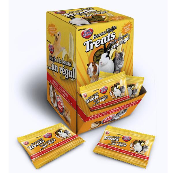 Martin Little Friends Banana Muffin Small Pet Treats, 25-gm, pack of 24