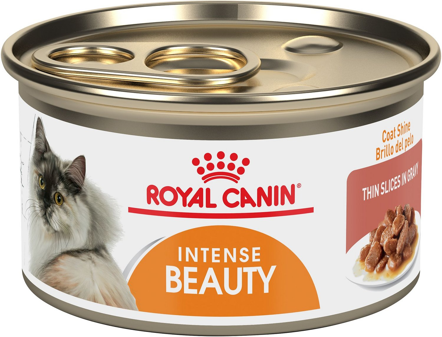 Royal Canin Intense Beauty Thin Slices in Gravy Canned Cat Food, 3-oz