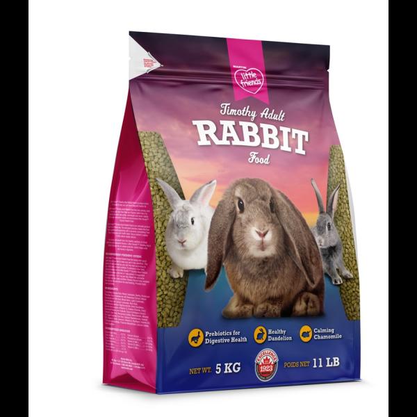 Martin Little Friends Adult Timothy Dry Rabbit Food, 5-kg