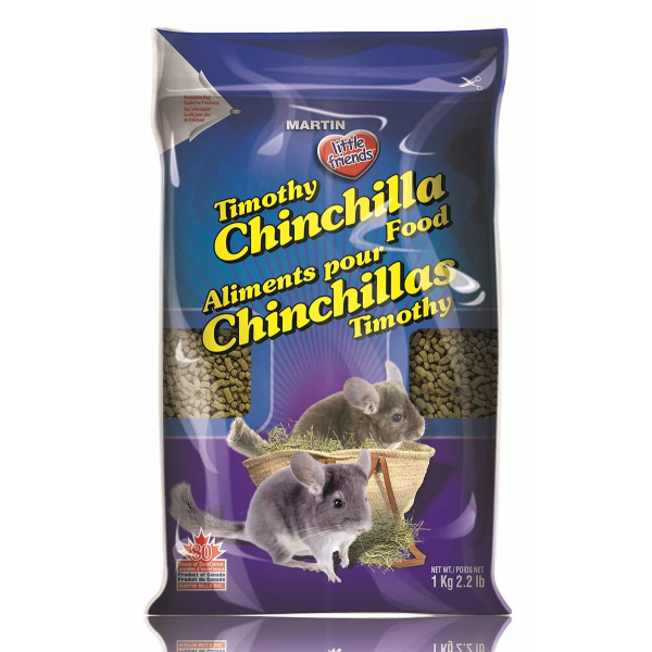 Martin Little Friends Timothy Dry Chinchilla Food, 1-kg