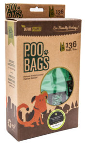 Define Planet Poo Bags T-Shirt Style for Dogs, 136-count