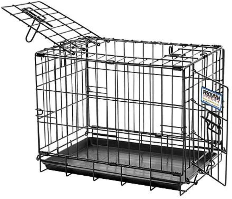 Precision Pet Great Crate 2-Door Dog Crate, Black Image
