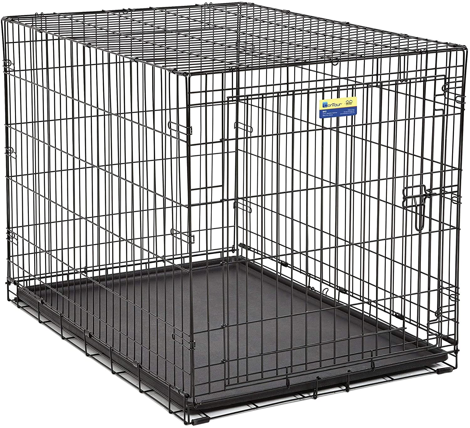 Midwest Crate Contour Single Door Dog Crate, 42-in