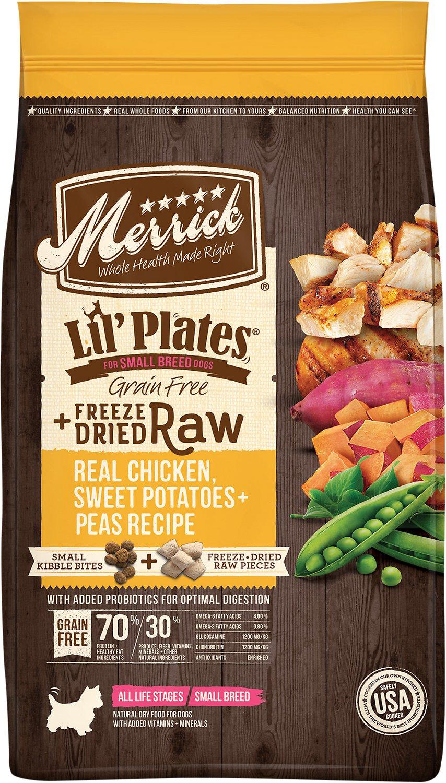 Merrick Lil' Plates Grain-Free Chicken & Sweet Potato Recipe with Freeze-Dried Raw Bites Dry Dog Food, 4-lb
