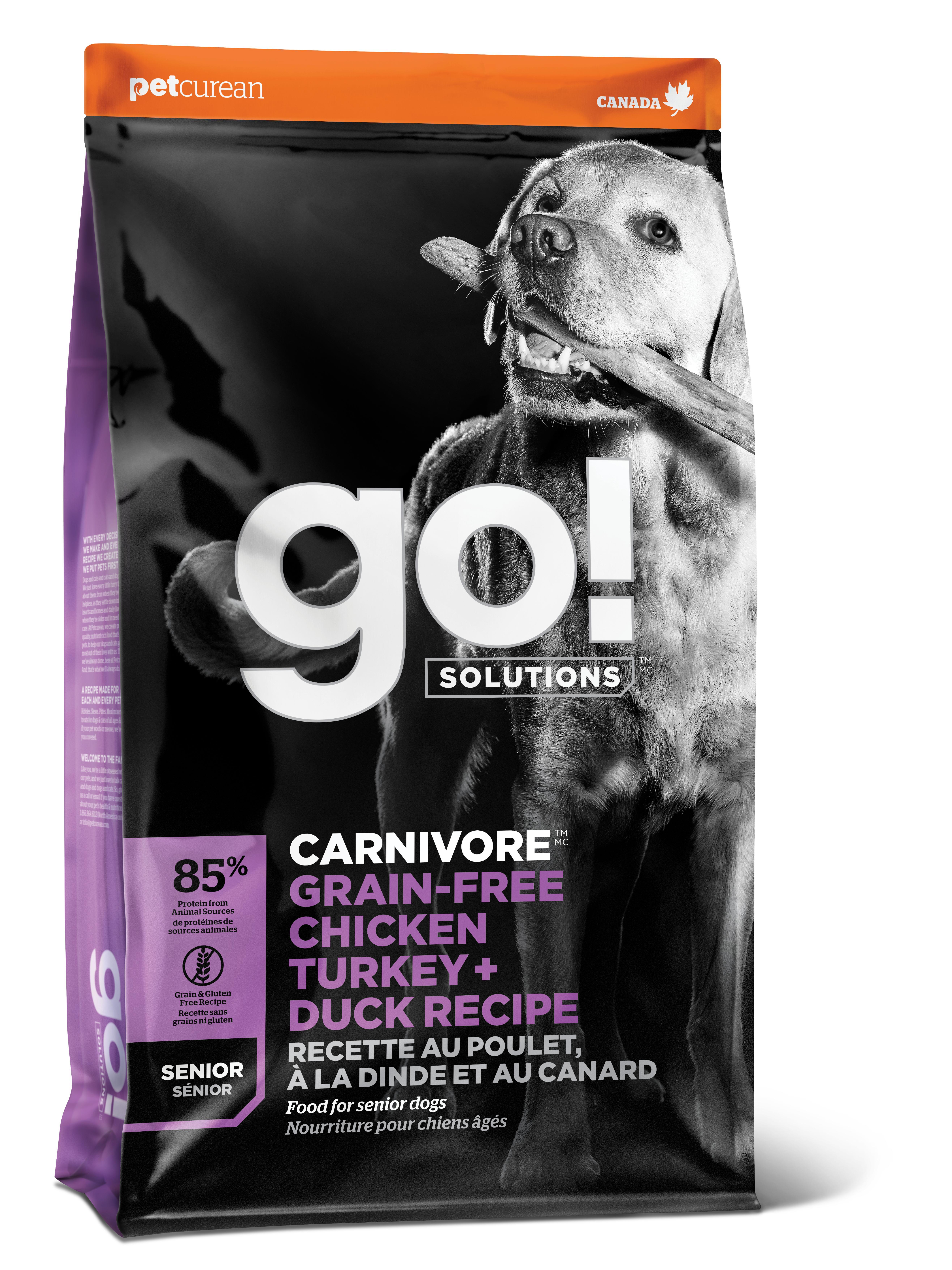 Go! Solutions Carnivore Chicken Turkey + Duck Senior Grain-Free Dry Dog Food Image