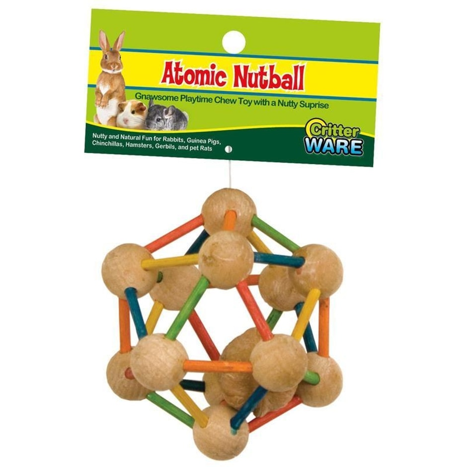 Ware Manufacturing Atomic Nut Ball Chew Toy for Small Animals