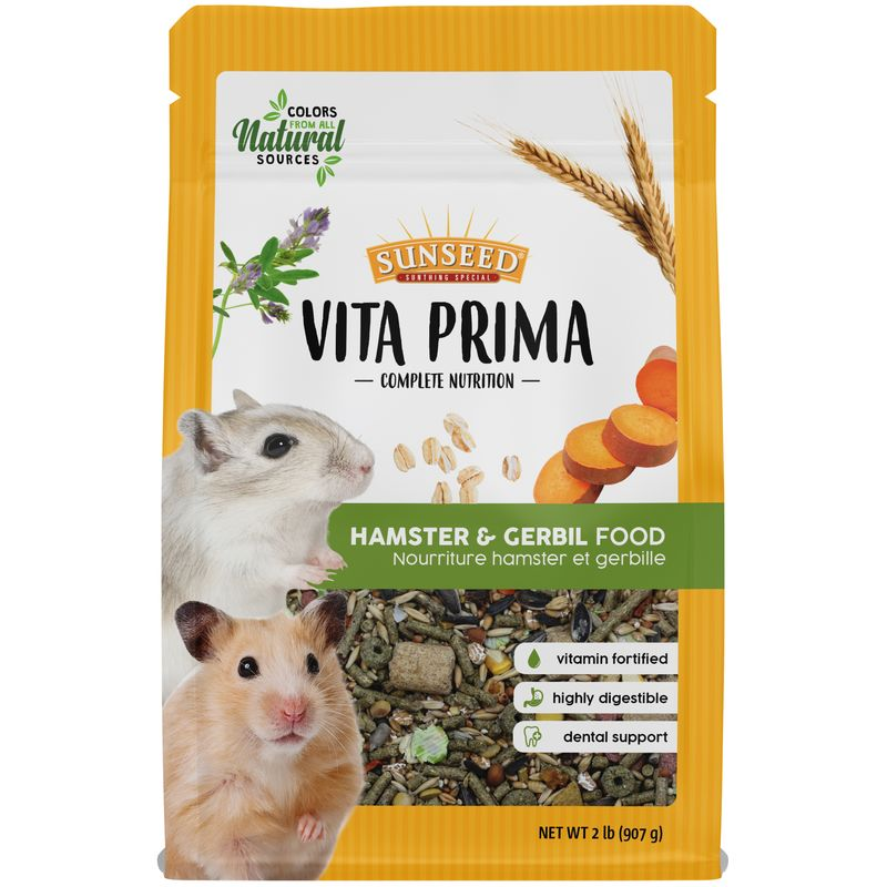Sunseed Vita Prima Hamster & Gerbil Food, 2-lb