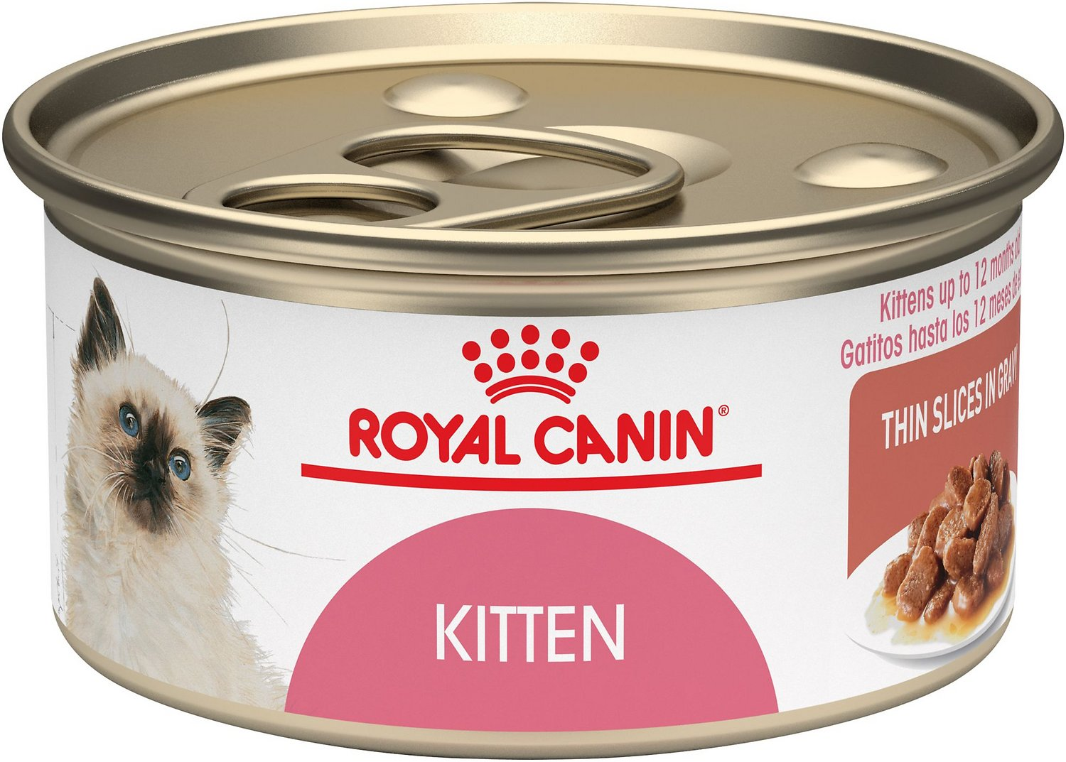 Royal Canin Kitten Instinctive Thin Slices in Gravy Canned Cat Food, 3-oz