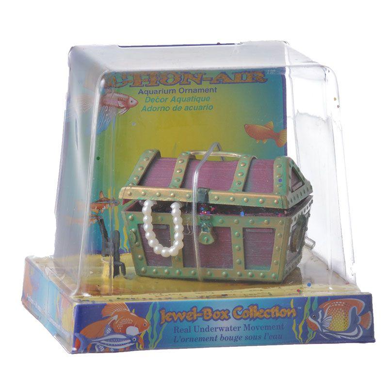 Penn-Plax Action Air Treasure Chest Aquarium Ornament, Small