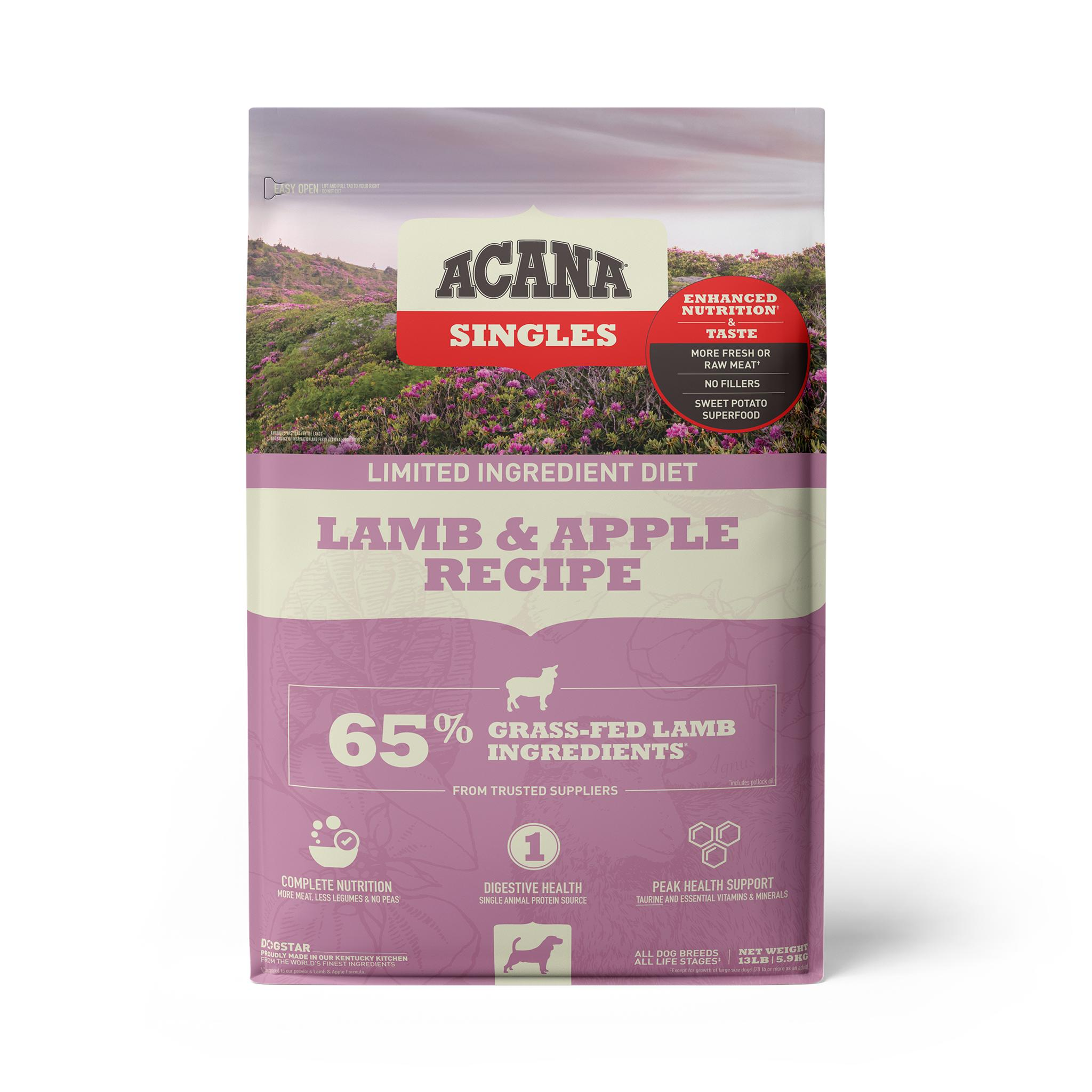 ACANA Singles Limited Ingredient Lamb & Apple Grain-Free Dry Dog Food, 13-lb bag