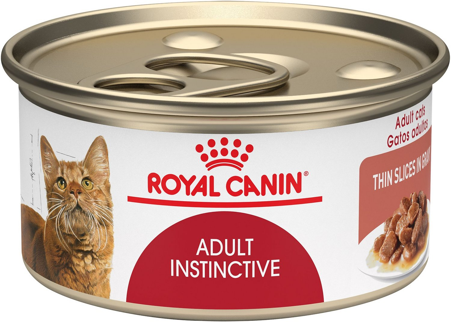 Royal Canin Feline Health Nutrition Adult Instinctive Thin Slices in Gravy Canned Cat Food, 3-oz