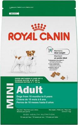 Royal Canin Mini Adult Formula Dog Dry Food, 14-lb bag
