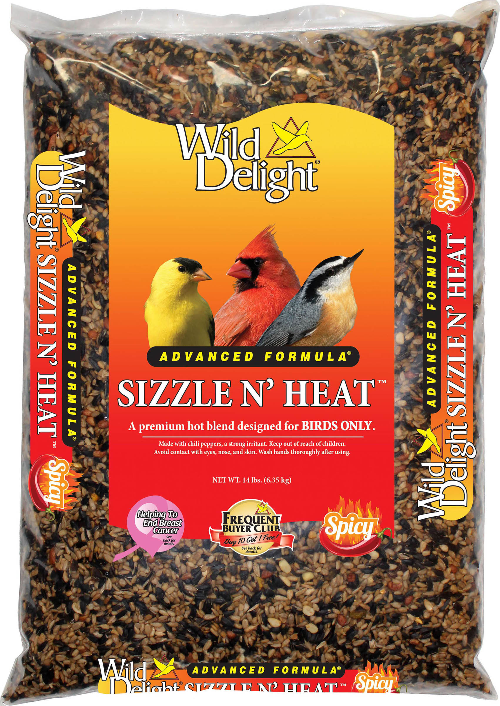 Wild Delight Sizzle N' Heat Wild Bird Food, 14-lb