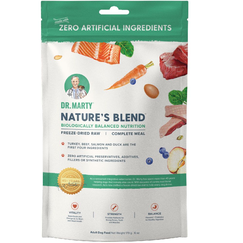Dr. Marty Nature's Blend Freeze-Dried Dog Food, 6-oz