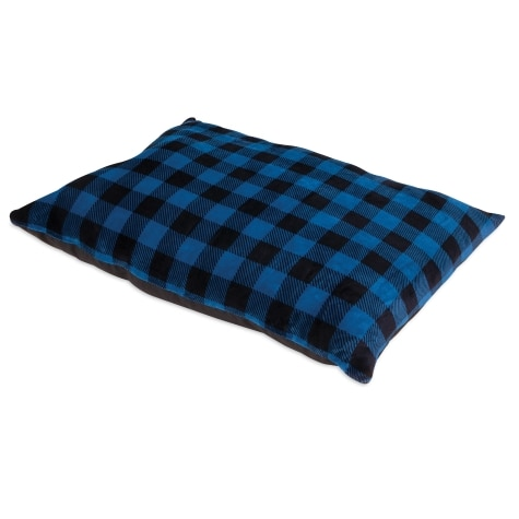 Petmate Plaid Bed Pillow, Blue Plaid, 40-in