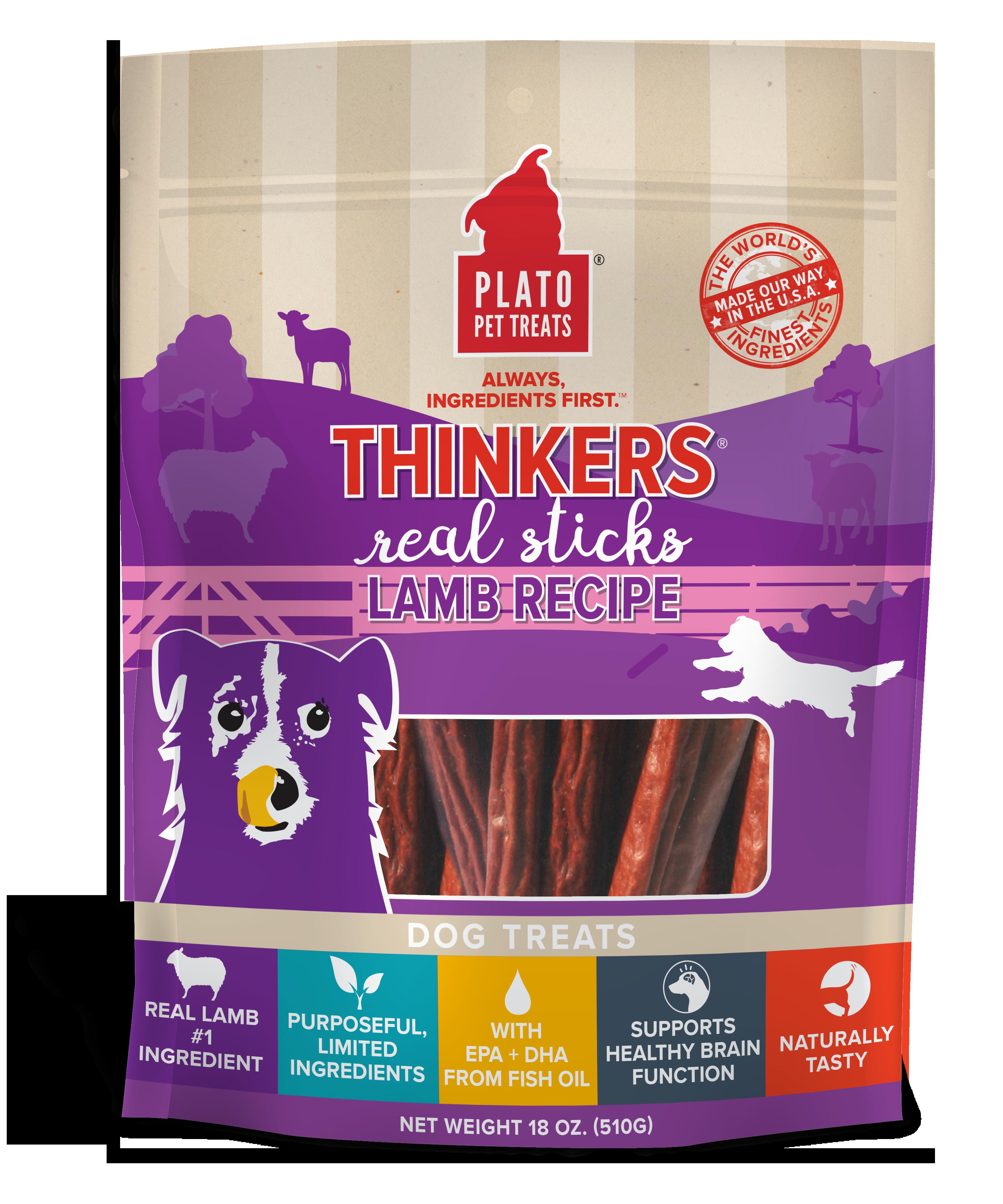 Plato Thinkers Lamb Recipe Dog Treats, 6.5-oz