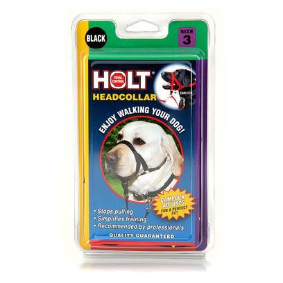Coastal Walk 'n Train Head Halter Dog Harness, Black,  Large