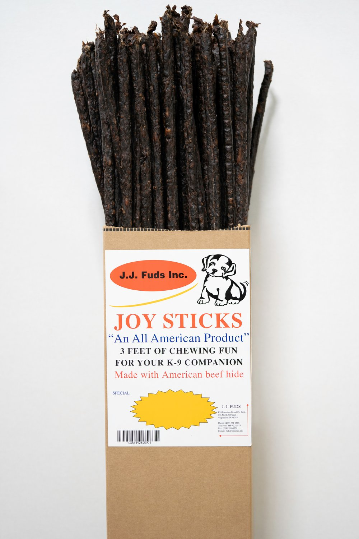 J.J. Fuds Joy Sticks Beef Flavored Dog Treats, 3-ft, 80-count