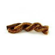 FouFou Boucherie Double Braided Beef Pizzle Dog Treats, 6-in
