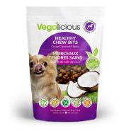 FouFou Vegalicious Healthy Chew Bits Crazy Coconut Dog Treats, 5.3-oz
