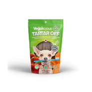 FouFou Vegalicious Tartar Off Sweet Potato Apple Dog Treats, 3.5-oz
