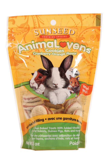 Sunseed AnimaLovens Cookies Cranberry-Orange Flavored Small Animal Treats, 3.5-oz